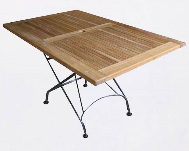Lavira Rectangular Table 130 x 80 cm - iron garden furniture