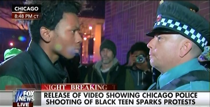 """Fox's Megyn Kelly Has A Problem With This Young Black Protester Looking At A Cop Kelly: """"It's Not A Question Of What His Constitutional Rights Are, It's A Question Of What's Appropriate"""""""