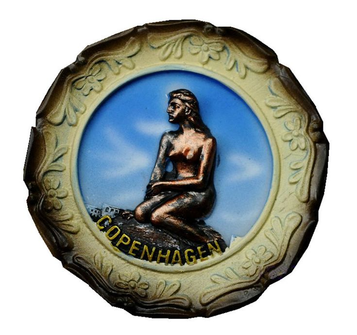 Mermaid Statue In Copenhagen 3D Fridge Magnets Denmark Tourism Souvenirs Refrigerator Magnetic Stickers Home Decortion
