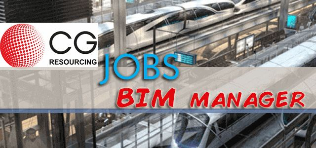 Jobs in CG Resourcing as BIM manager.Candidates have a degree in an engineering related subject.Should have a proven track record in using BI software.