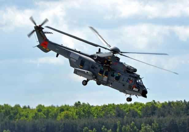A Caracal helicopter Airbus, May 14, 2015 Powidz in Poland