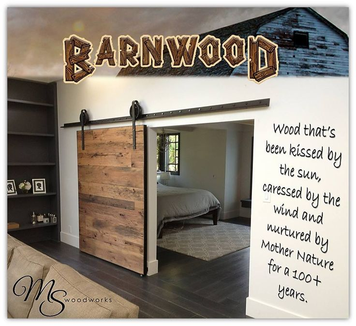 Barn Wood Doors Bring Rustic Modern to Your Homes Transitions. #BarnWood