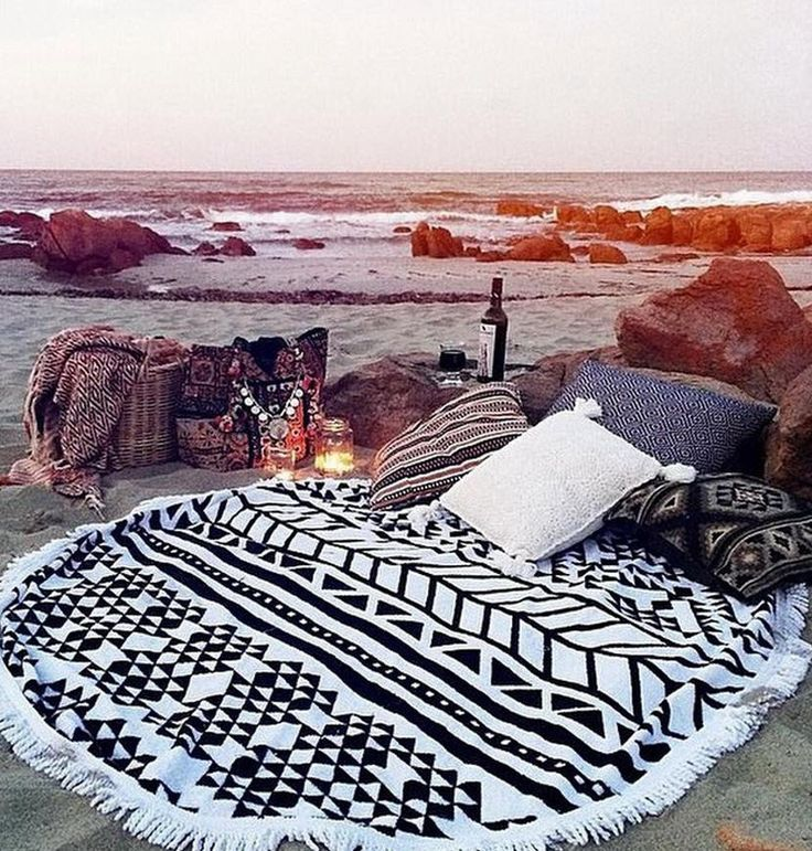 Stay off the sand with this cozy beach blanket.