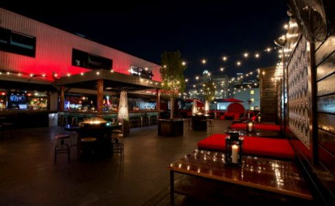 Best rooftop patios: Proof Bar + Patio  Another Midtown mainstay, Proof is perched atop Reef Restaurant and is known for its large deck and uber-loungy vibe along with great views of the downtown skyline.