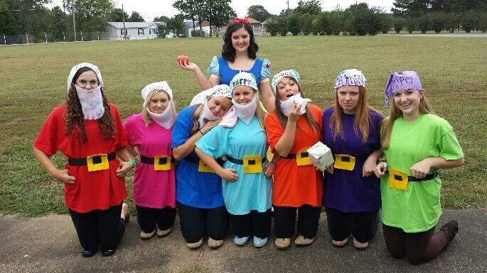 Seven dwarfs costumes homemade