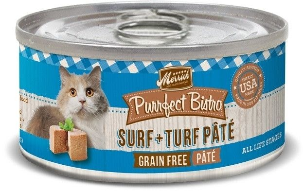 Merrick Purrfect Bistro Surf and Turf Grain Free Canned Food for Cats and Kittens | Cat | Food | PetFlow
