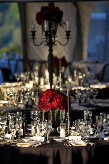 Hochzeitstischdeko Mit Roten Rosen Bildergalerie Tischdekoration