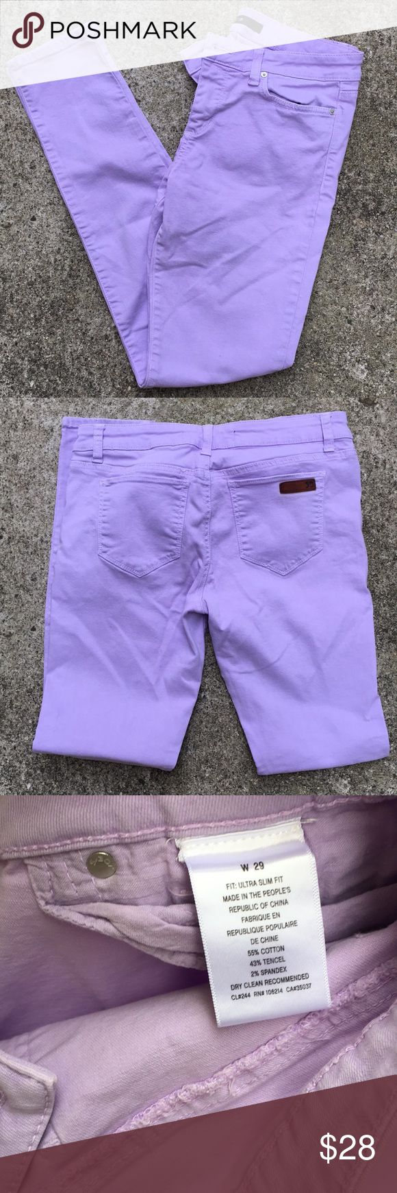 """Joe's Lilac Skinny Jeans Sz 29 Inseam 30"""" Great condition light purple skinny jeans from Joes Jeans. Size 29. 30"""" inseam. No stains or tears. Joe's Jeans Jeans Skinny"""