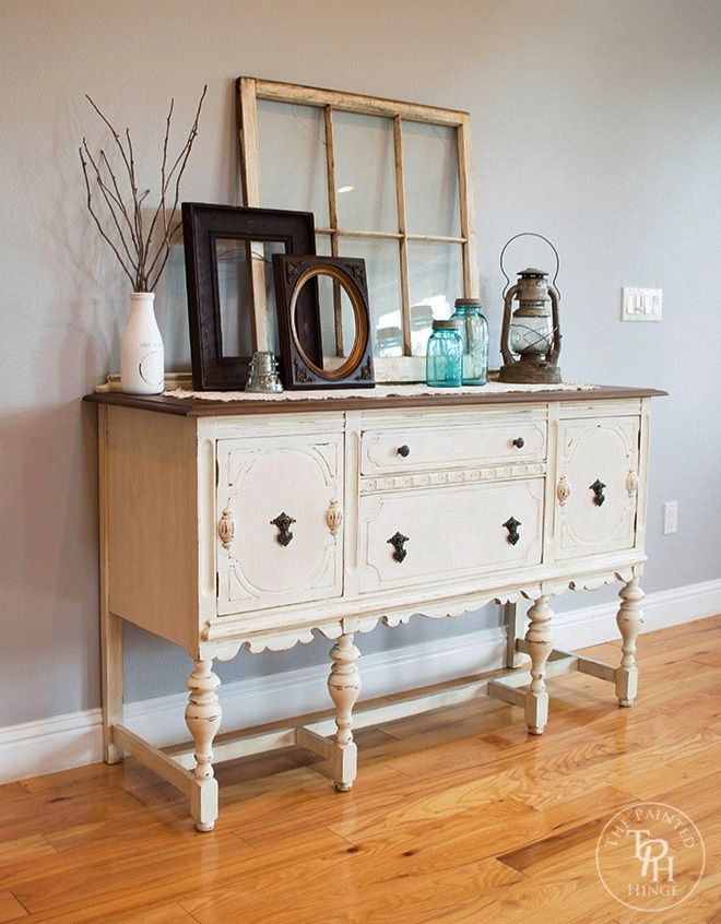 109 best painted antique buffets images on pinterest for Painted buffet sideboard