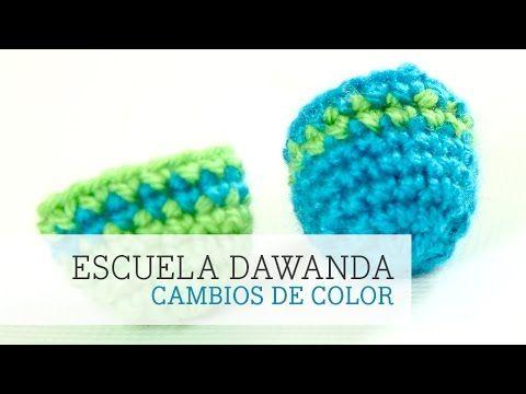 Cómo hacer líneas de otro color en los amigurumi | DaWanda - YouTube