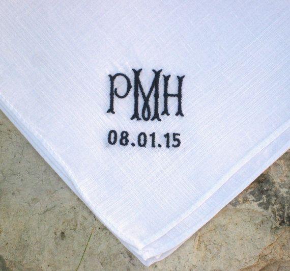 Men S Irish Linen Handkerchief Groom Father Of Bride