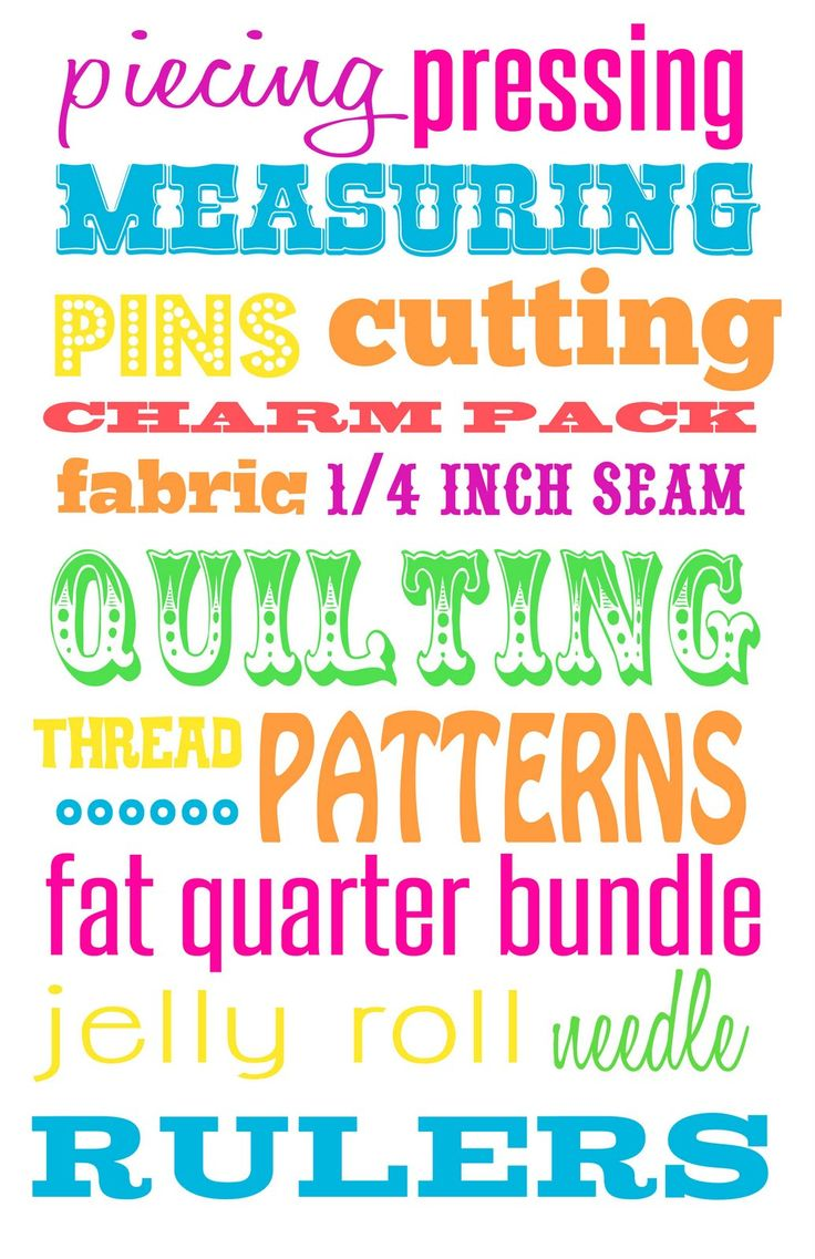 pickles & bacon: Freebie! Quilting Subway Art | Sewing ...