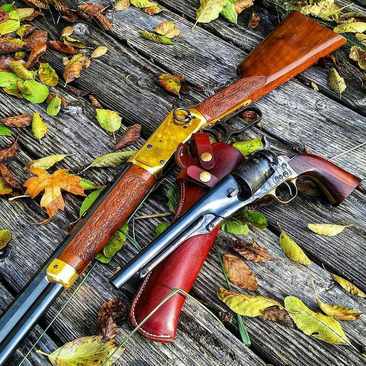 The rifle is a Winchester 30-30 centennial '66 golden boy, and a New Army Mod 1860 .44.
