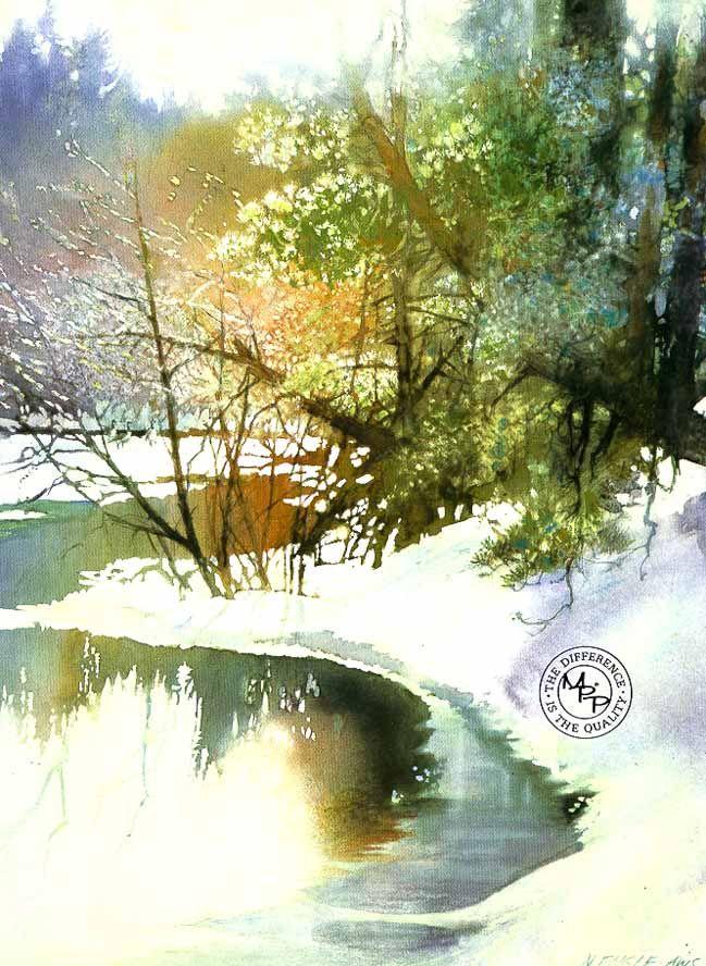 Bright River by watercolor artist Nita Engle