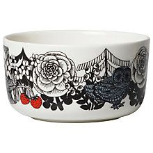 Buy Marimekko Veljekset Stoneware Bowl, White/Black/Blue Online at johnlewis.com