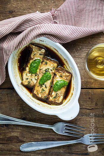 Tofu al forno con salsa verde