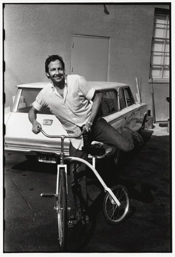 "Robert Rauschenberg, 1969      ""I love Los Angeles. I once said publicly that one of the reasons I like Los Angeles is that it is a thousand miles wide and a quarter of an inch deep. I find L.A. both innocent and stimulating. It has that kind of Western feeling, a controversial rawness. The city works with my renegade feelings about what art is, both of what it's not supposed to be and what it could be."" -RR"