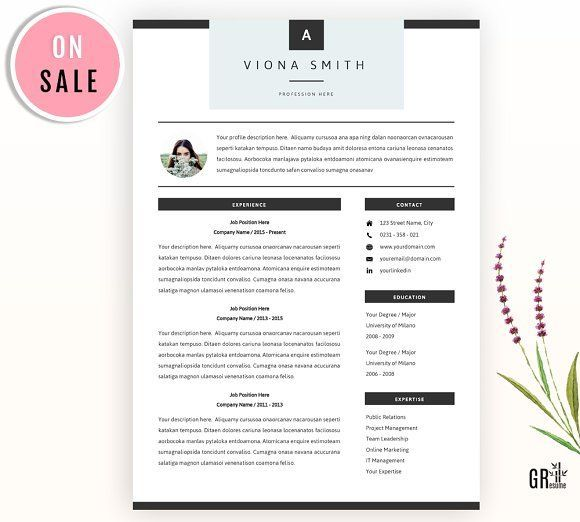 Resume Template by GResume on @creativemarket