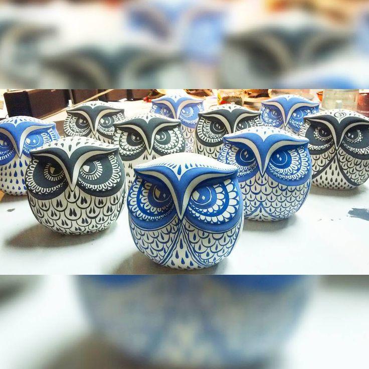 #owl #owls #baykuş #owly #handmadeowl #çini #seramik #ceramic #ceramics #mimari #architecturel #dekorasyon #iznik #nicaea #craft #artcraft #creative #illustration #design #graphic #gallery #masterpiece #instaartist #artoftheday #sanat #underglaze #kiln #vscoart #vscoartist