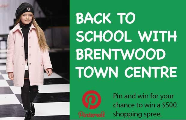 Back to school shopping made easy. @TheProvince is giving away a $ 500 gift card to the Brentwood Town Centre in Burnaby, B.C. to help get your little ones ready for another school year. Details on how to enter at   http://theprov.in/pinandwin. Good luck! #contest #kids #backtoschool