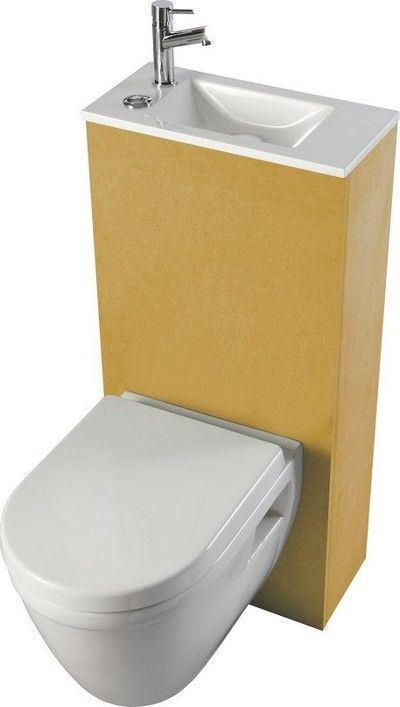 Pack wc suspendu avec lave mains int gr abattant frein de chute d co si - Pack toilette suspendu ...