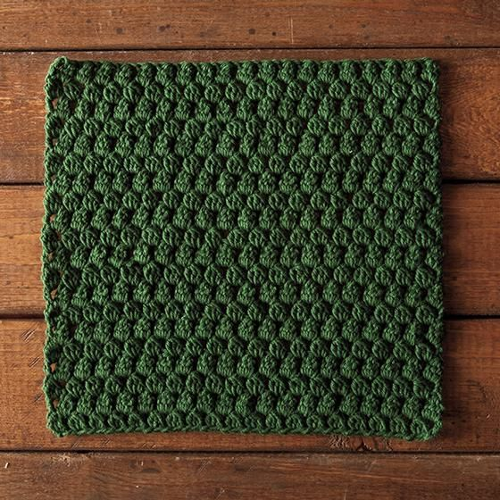 he Little Leaves Crochet Dishcloth Pattern uses a bobble with a chain 1 space, making it easy to see where you need to make the bobbles on the next row.