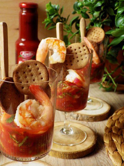 Quinoa Raz!: Kolumbijskie ceviche z krewetek z bezglutenowymi krakersami
