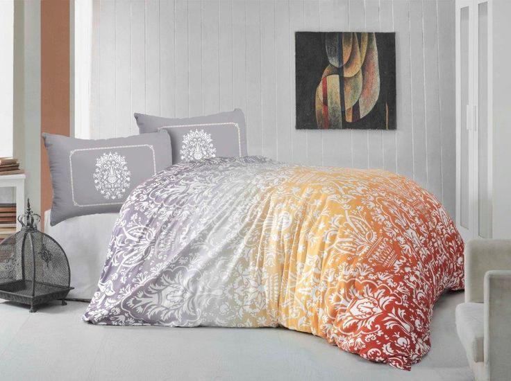 Holey Quilt obliečky Bavlna Deluxe  Chloe oranžová 140x200, 70x90cm
