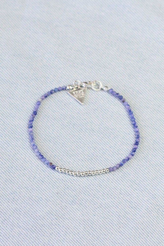 Montana Bracelet -Lilac Beaded Bracelet with charms by Loca Wild. Choose your charms for this unique charm bracelet. Stack them up! Shop online now.