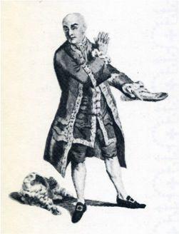 Garrick and Macklin as Shylock