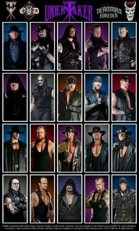 "( WWE CELEBRITY MAN 2016 ★ The UNDERTAKER ) ★ Mark William Calaway - Wednesday, March 24, 1965 - 6' 10"" 299 lbs - Houston, Texas, USA."
