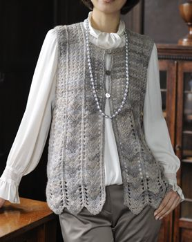 Crochet vest--The pattern is not in English, which is disappointing because I like this vest.