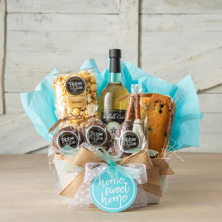 Kneaders Christmas Gift Baskets 2020 Home Sweet Home Gift Basket in 2020 | Wooden crates gifts, Home