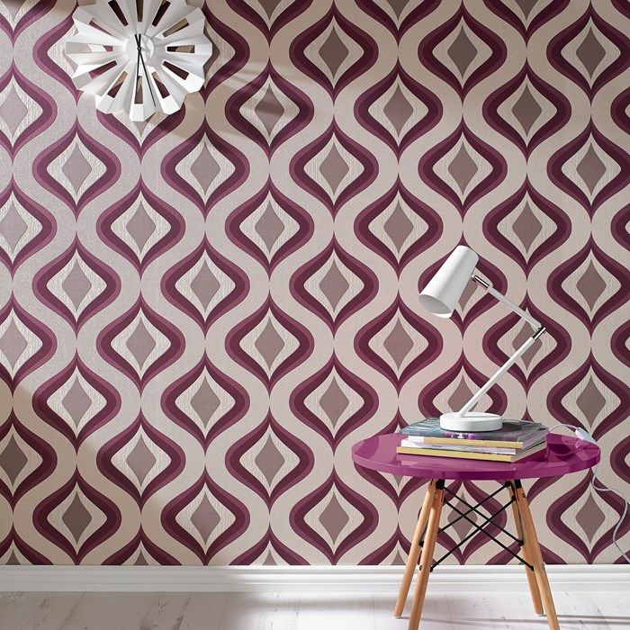 Trippy Purple Wallpaper by Graham and Brown