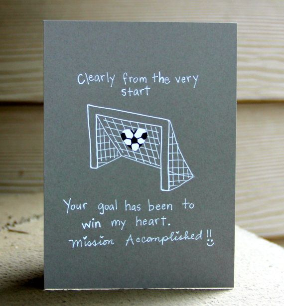 MVP Soccer Valentine's Day Card by thepaperhugfactory on Etsy, $3.00