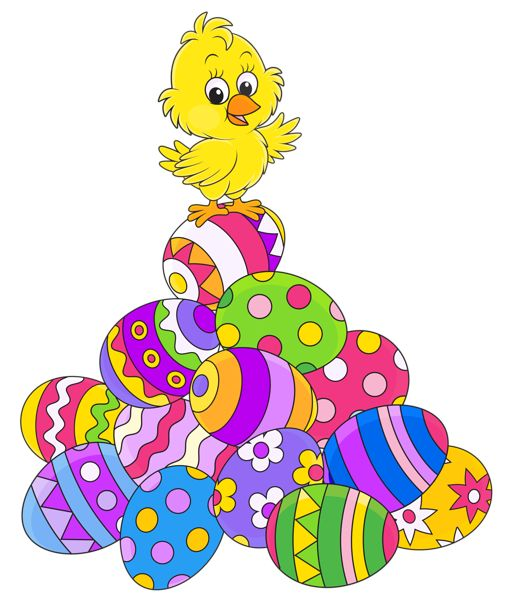 Easter Eggsand Chicken PNG Picture