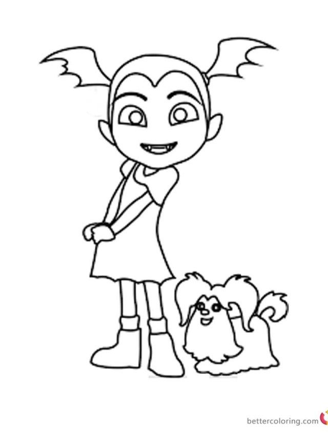 Vampirina Printables For Your Child To Celebrate Halloween Happily Christmas Coloring Pages Disney Printables Free Coloring Pages