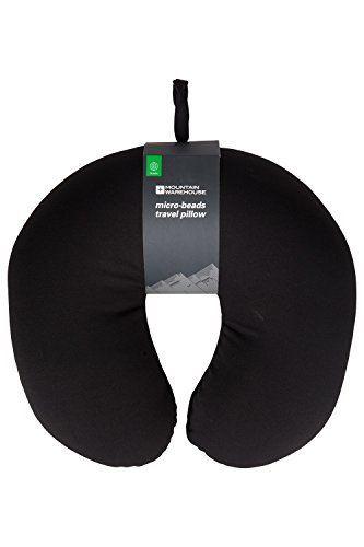 Mountain Warehouse Oreiller cervical de voyage Cou Micro-Billes Avion Train Voyage Voiture Noir Taille Unique: Recouvert d'une fourrure…