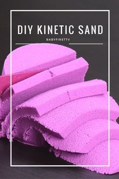 Easiest way to make kinetic sand with materials you can find from home! #babyfirst #diy #creative #fun #kineticsand #kinetic #game #toddler #kids #children #games #artsy #crafty