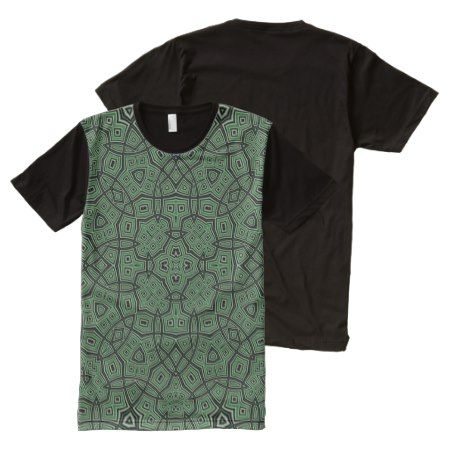 green nice abstract pattern All-Over-Print shirt - click/tap to personalize and buy