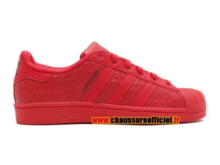 Adidas Superstar Triple Red J (GS) Chaussures Adidas Pas Cher Pour Homme rouge s76353