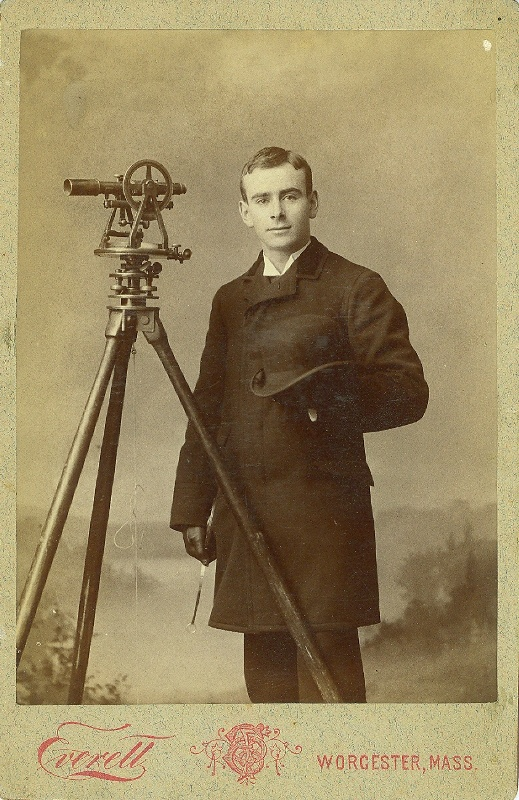 ca 1880s surveyor--note ring device in his right hand