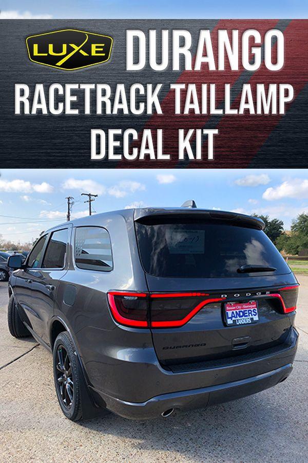 2014 Durango Racetrack Taillamp Decal Dodge Durango Durango Race Track