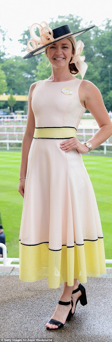 Chiropractor Ami Bree Said, from Putney, south west London, donned a blush pink dress with...