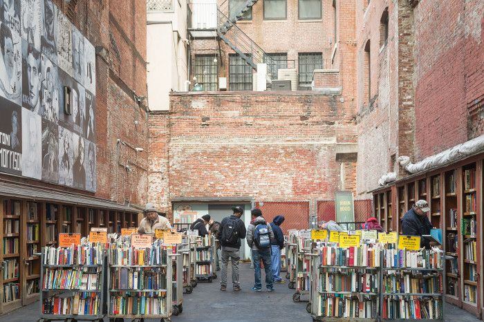 The Brattle Bookshop Boston, open air book store