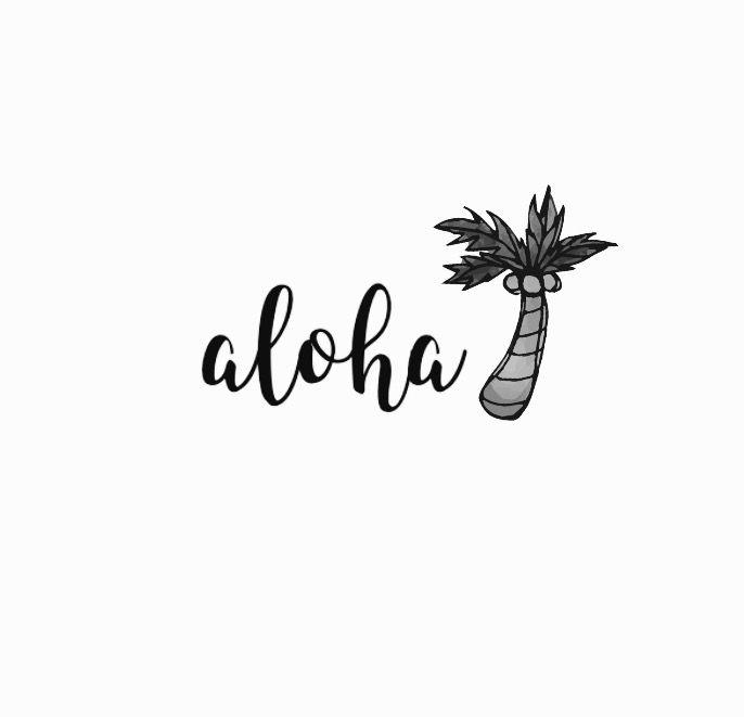 ••aloha lettering••