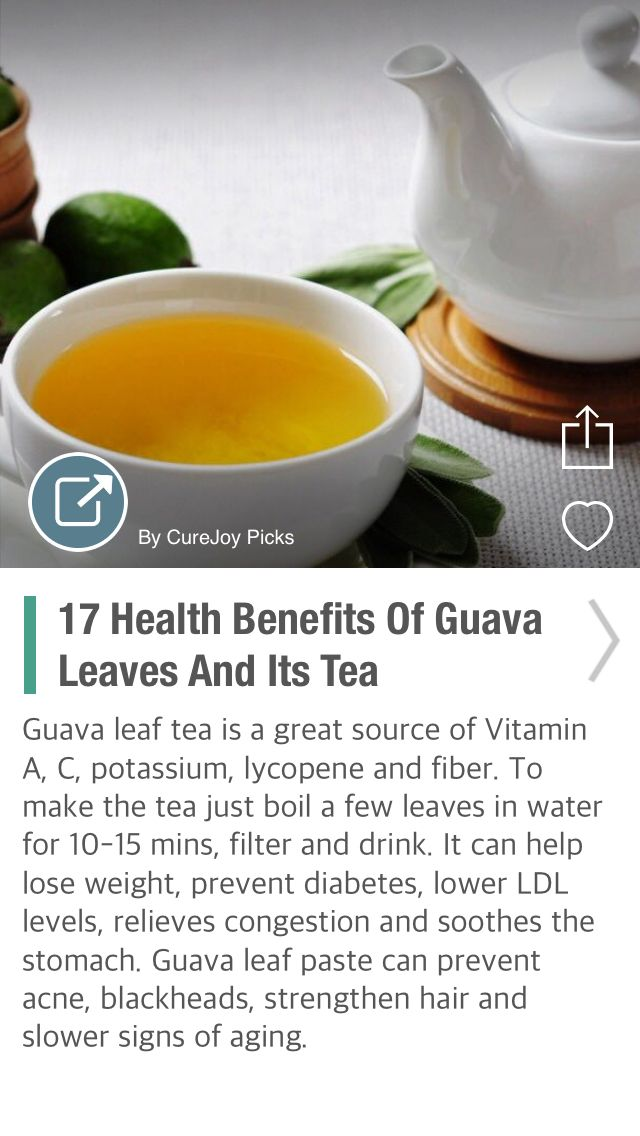 17 Health Benefits Of Guava Leaves And Its Tea - via @CureJoy