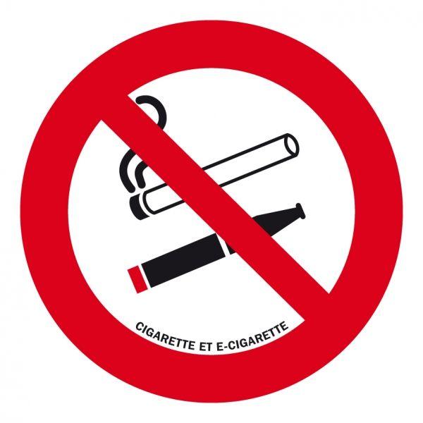 Panneau interdiction de fumer cigarette électronique