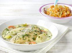 Waterzooi met kip, kervel en spinazie Recept » Colruyt Culinair
