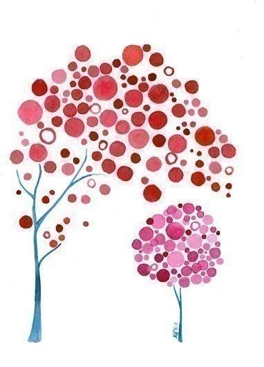 Watercolour Art Mothers Daughter Print Nursery Wall Art Baby Girl Shower Gift. $15.50, via Etsy.